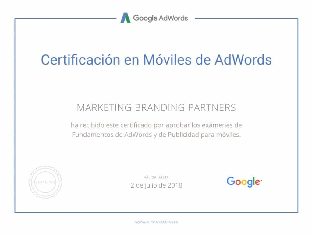 certificado google, certificado en moviles google adwords